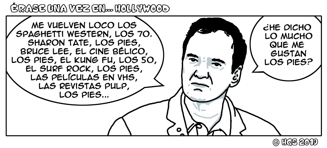 Once upon a time in Hollywood Viñeta